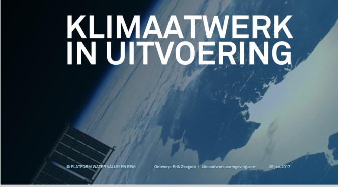 Klimaatwerk in uitvoering